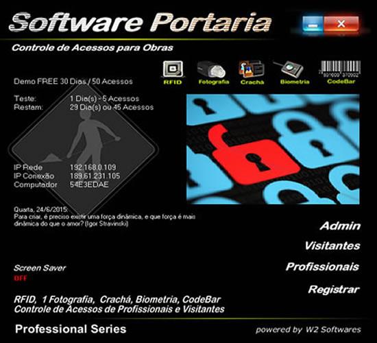 Software Portaria identificação e controle de acessos em Obras