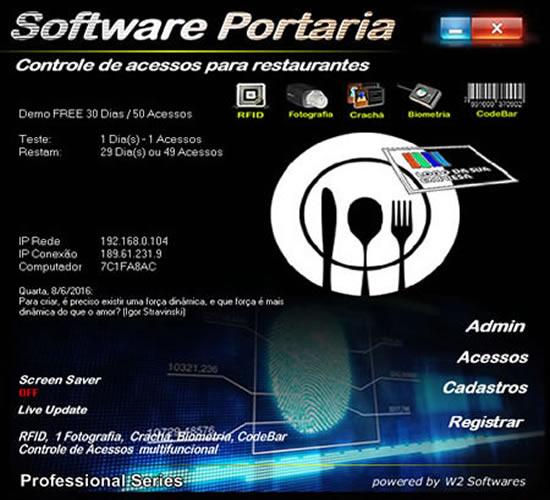 Software Controle de acessos para restaurantes