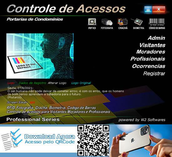 Software Portaria Controle de Acessos Condomínios RFID foto Biometria